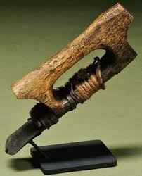 native american adze. eskimo adze with bone handle; image credit on full record. native american