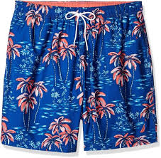 Nautica Swim Trunks Size Chart Nautica Mens Big Quick Dry Half Elastic Waist Signature