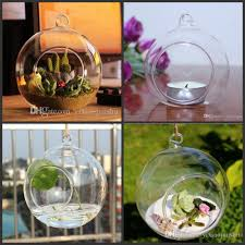 Hanging Glass Tea Light Spheres Us 174 0 100pcs Box Tea Light Holder 80mm Glass Air Plant Terrariums Hanging Glass Orb Candle Holder For Wedding Candlestick Garden Decor In Party
