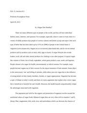critique essay on social media esl section professor  4 pages argumentative essay on veganism