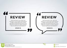Website Review Quote Citation Blank Template Vector Icon