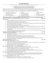 joseph mullen communications professional resume 2015 central head corporate communication resume