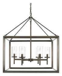 yale 6 light chandelier metal bronze with clear glass