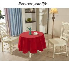 yemyhom spill proof fabric round tablecloth for dining room wedding and party 60