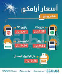 (أرامكو السعودية) ترفع أسعار البنزين لشهر يوليو - الطاقة