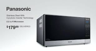 panasonic stainless steel microwave stainless steel with inverter technology cu ft microwave delivered panasonic 16 cu
