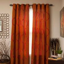 rich rust colored curtains have a soothing elegance asstd national brand cambridge home metallic grommet