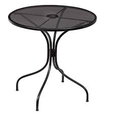 astounding round glass patio table tables tops 48 with umbrella hole literarywondrous metal patio table image
