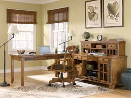 rustic home office. excellent office space design presented with desk lamp which has same style stand installed rustic home