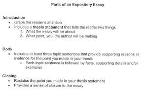 Informational Essay Outline Informative Example Expository 5th Grade