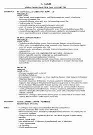 Emergency Nurse Resume Resume Work Template