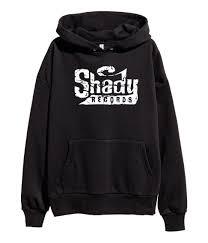 Shady Records White Logo Hoodie Hip Hop Eminem Kamikaze Merck Black Men Long Sleeve Gym Jogger Winter Summer Coat