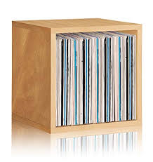 Amazoncom Way Basics Vinyl Record Storage Cube Stackable LP Album  Shelf Natural Worldu0027s Easiest Toolfree Assembly And Made From Sustainable  Lp Record Storage Amazoncom97