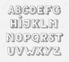 Alphabet Letters Letters Of The Alphabet Written With A Brush Modern