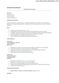 Graduate Nurse Resume Templates Nursing Resume Examples With
