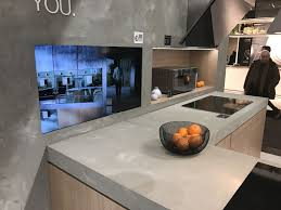 view in gallery this philippe starck kitchen features modern concrete countertops