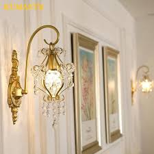 french style crystal wall lamps indoor light fixtures living room bedside bedroom corridor sconce modern lamp