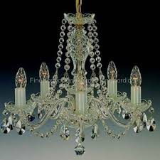 crystal chandelier 5 arms silver finish swarovski crystal l 111 5 02n