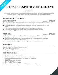Best Resume Samples For Software Engineers Best Resume Format
