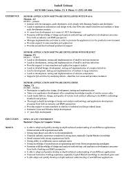 Software Developer Resume Samples Senior Application Software Developer Resume Samples