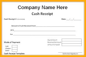 Money Receipt Format Money Receipt Template Cheque Free Cash