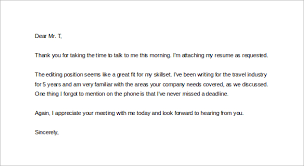 Send Thank You Letter After Phone Interview 5 Best Examples Ideas