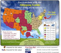 Ups Shipping Rates Chart 2018 Shipping And Returns Ups And Usps Shipping Map And Times