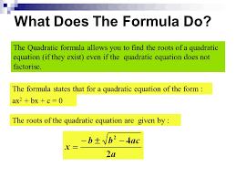 what does the formula do