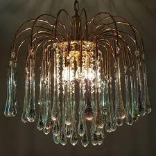 chandeliers pink glass teardrop chandelier previous modern glass teardrop chandelier clear glass teardrop chandelier