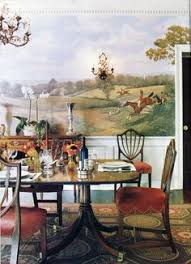 bunny williams hunt scene dining traditional dining room with awesome wall mural