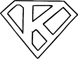 Small Picture Superman Logo with Letter K Get Coloring Pages
