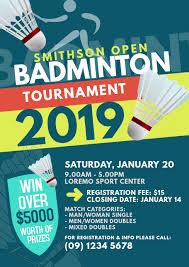 Handbill Template Badminton Tournament Flyer Template Postermywall