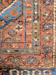 oriental rug closeup showing wear