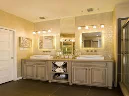 traditional bathroom lighting. Traditional Bathroom Lighting Ideas White Free Standin Led Light Frameless Square Wall Mirror Stone Tile Backsplash Unique Vessel Sink A