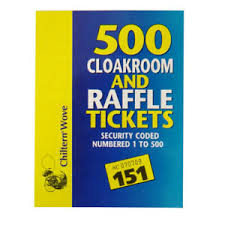 Raffle Ticket Booklets Details About Chiltern Cloakroom And Raffle Ticket Book Numbered 1 500 And Security Code
