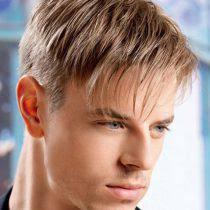 Pánský účes Na Straně Malých Vlasů Pánské účesy Na Straně Typy A