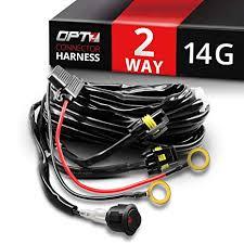 amazon com opt7 led light bar heavy duty wiring harness 14 gauge opt7 led light bar heavy duty wiring harness 14 gauge 380w dual wiring harness w