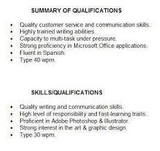 Skills Summary Resume Example Examples Of Resumes