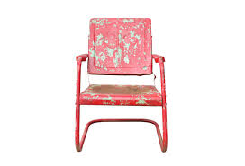 metal patio chairs. Vintage Red Metal Patio Chair Chairs