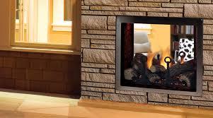 see thru fireplace ventless