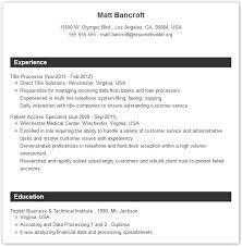 Make Resume Inspiration Professional Resume Templates Resume Builder With Examples And
