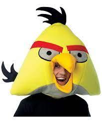 Adult Yellow Rovio Angry Birds Mask - Costume Mask