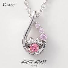 disney necklace disney minnie mouse drop silver jewelry accessories lady s pendant necklace vpcds20167 mini regular article