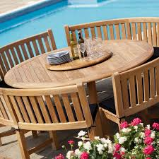 outdoor furniture westminster teak large round table image 1