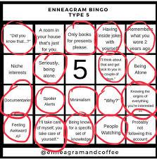 You learn their core desires, fears, wings, stress numbers, and more! Kristel Acevedo On Twitter My Enneagram5 Bingo Card Soaccurate Enneagram Enneanerd