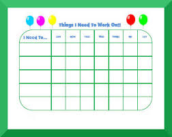 Monthly Reward Chart Template Free Printable Behavior Charts For Kids