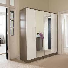 Delightful Wardrobe Closet With Mirror Mirrored Doors Jpg Bedroom ...