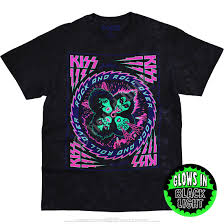 Black Light Tie Dye Kiss Blacklight Tie Dye T Shirt