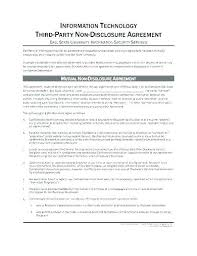 Simple Nda Template General Template Simple Nda Free Basic Non Disclosure Agreement