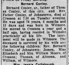 Bernard Conley obituary - Newspapers.com